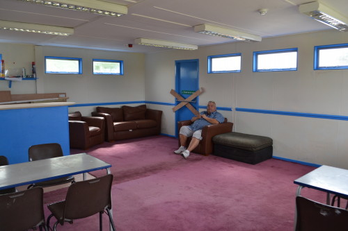 Nearly completed club room